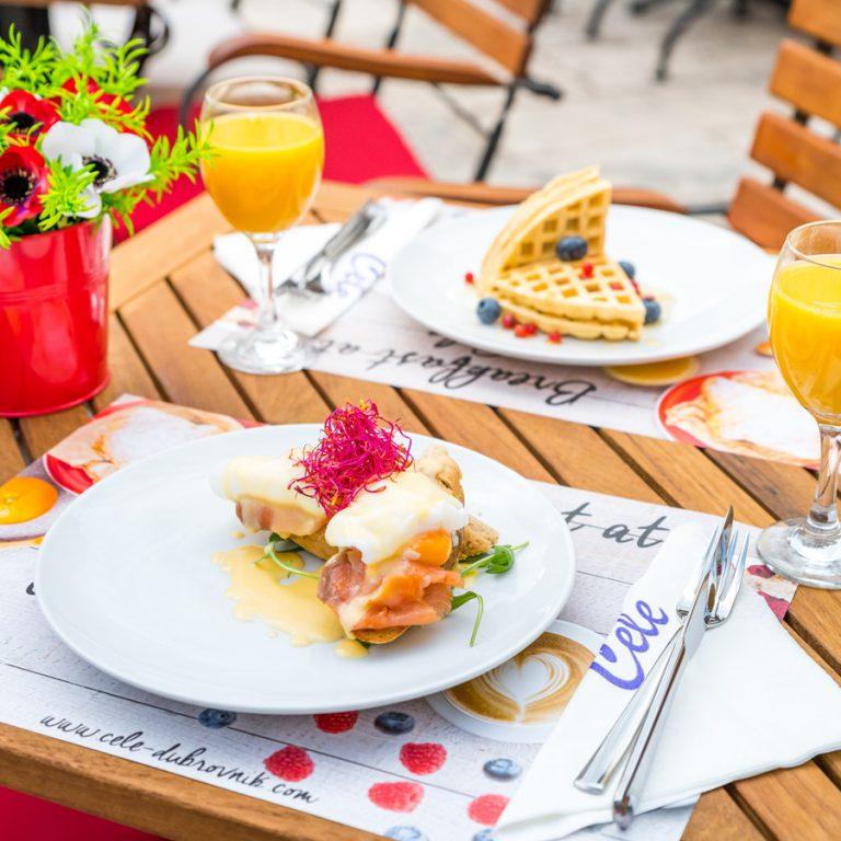 cele dubrovnik gallery eggs and waffles arrangement