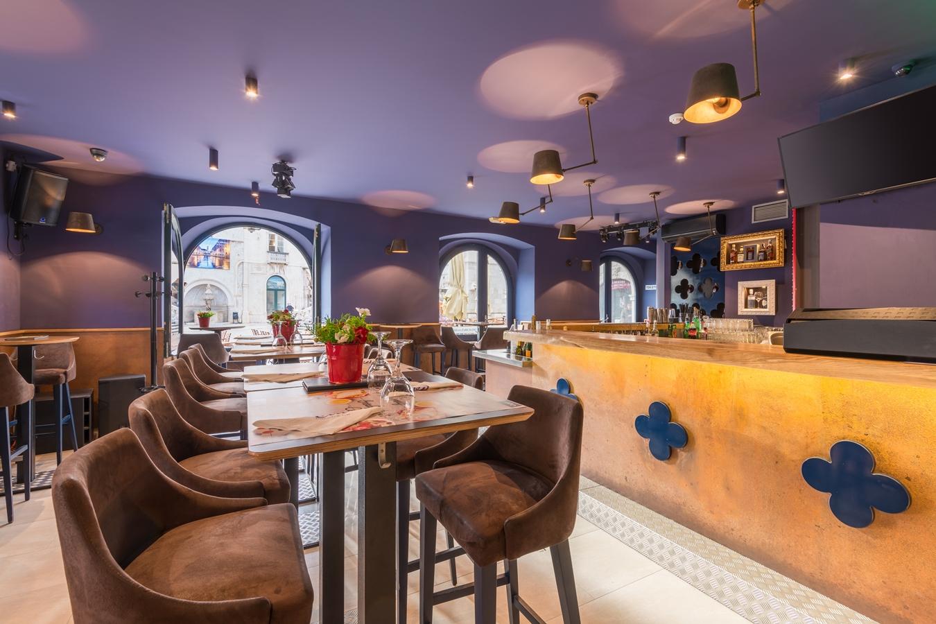 cele dubrovnik interior bar tables